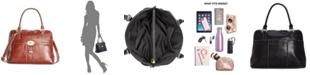 Giani Bernini Turn-Lock Glazed Dome Satchel, Created for Macy's
