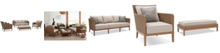 Furniture San Lazzaro Outdoor Woven 4-Pc. Seating Set (1 Sofa, 2 Chairs And 1 Coffee Table/Ottoman), Created For Macy's
