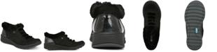 Bzees Golden Fur Trim Slip On Sneakers