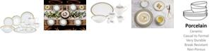 Lorren Home Trends Safora 57-PC Dinnerware Set, Service for 8
