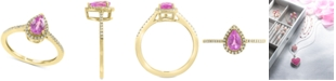 EFFY Collection EFFY® Pink Sapphire (3/4 ct. t.w.) & Diamond (1/8 ct. t.w.) Ring in 14k Gold