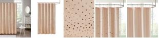 """Madison Park Intelligent Design Zoey 72"""" x 72"""" Metallic Shower Curtain"""