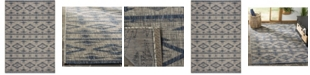 "Safavieh Courtyard Gray and Navy 5'3"" x 7'7"" Area Rug"