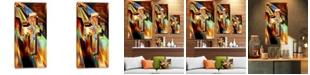 """Design Art Designart Light Of The Cross Abstract Canvas Artwork - 16"""" X 32"""""""
