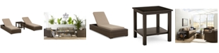 Furniture Camden Outdoor Wicker 3-Pc. Seating Set (2 Chaise Lounges & 1 End Table), Created for Macy's