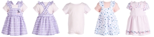 First Impressions Baby Girls 2-Pc. Bodysuit & Printed Jumper Set