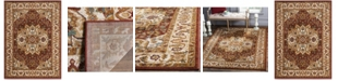 """Safavieh Summit Red and Ivory 5'1"""" x 7'6"""" Area Rug"""