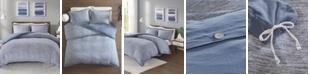 JLA Home Urban Habitat Space Dyed Full/Queen 3 Piece Melange Cotton Jersey Knit Duvet Cover Set