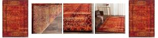 """Safavieh Vintage Hamadan Orange 5'3"""" x 7'6"""" Area Rug"""