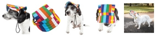Pet Life Central Pet Life 'Colorfur' Floral UV Protectant Adjustable Fashion Dog Hat Cap