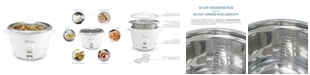 Elite by Maxi-Matic Elite Platinum 20 Cup Rice Cooker with Stainless Steel Cooking Pot
