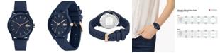 Lacoste Women's 12.12 Blue Rubber Strap Watch 36mm