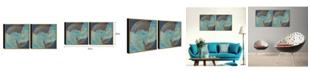 "Chic Home Decor Veneta 2 Piece Framed Canvas Wall Art Abstract Design -15"" x 31"""