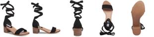 Steve Madden Women's Adjust Tie-Up Sandals