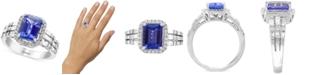 EFFY Collection EFFY® Tanzanite (2-1/10 ct. t.w.) & Diamond (5/8 ct. t.w.) Statement Ring in 14k White Gold