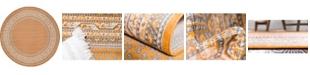 Bridgeport Home Axbridge Axb1 Orange 8' x 8' Round Area Rug