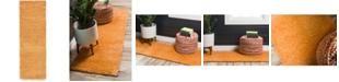"""Bridgeport Home Uno Uno1 Orange 2' 2"""" x 6' 7"""" Runner Area Rug"""