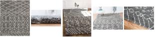 Bridgeport Home Fazil Shag Faz2 Gray 8' x 10' Area Rug