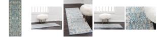 Bridgeport Home Bellmere Bel6 Light Blue 2' x 6' Runner Area Rug