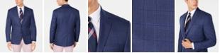 Lauren Ralph Lauren Men's Classic/Regular Fit UltraFlex Stretch Blue Plaid Sport Coat