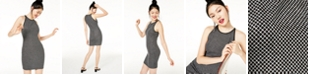 B Darlin Juniors' Zip-Back Glitter-Knit Dress, Created for Macy's