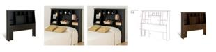 Prepac Full/Queen Tall Slant-Back Bookcase Headboard