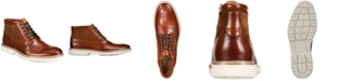 Alfani Rynier Leather Lace-Up Boots, Created for Macy's
