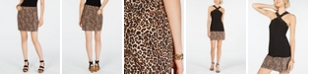 INC International Concepts INC Leopard-Print Denim Mini Skirt, Created for Macy's