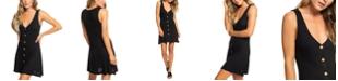 Roxy Juniors' Button-Down Fit & Flare Dress