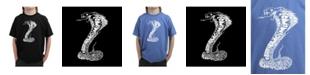 LA Pop Art Big Boy's Word Art T-Shirt - Tyles of Snakes