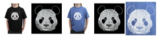 LA Pop Art Big Boy's Word Art T-Shirt - Panda