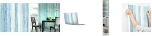 York Wallcoverings Blue Watercolor Stripe Peel & Stick Wallpaper