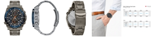 Bulova Men's Chronograph Precisionist Gray Stainless Steel Bracelet Watch 46.5mm