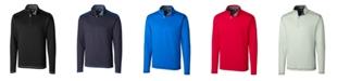 Cutter & Buck Men's Big & Tall Long Sleeves Evergreen Reversible Overknit Sweatshirt