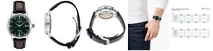 Seiko Men's Automatic Presage Brown Leather Strap Watch 40.5mm
