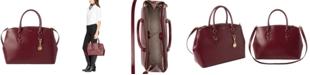 Lauren Ralph Lauren Bennington Double Zip Leather Satchel