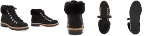 INC International Concepts INC Women's Pravale Lace-Up Lug Sole Hiker Bling Booties, Created for Macy's