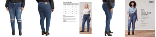 Levi's Trendy Plus Size 721 Ripped Skinny Jeans