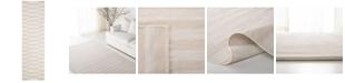 """Lauren Ralph Lauren Ludlow Stripe LRL7350D Alabaster 2'3"""" X 8' Runner Area Rug"""