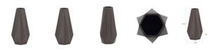 Howard Elliott Graphite Geometric Star Vase, Small
