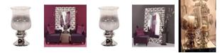 Howard Elliott Smokey Glass Hurricane Large Vase