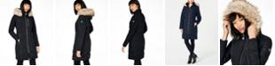Calvin Klein Petite Faux-Fur-Trim Hooded Puffer Coat, Created For Macy's