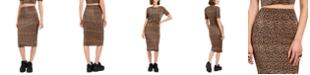 The Fifth Label Leopard Print Pencil Skirt