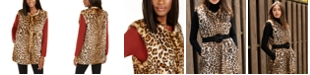 INC International Concepts INC Leopard-Print Faux-Fur Duster, Created For Macy's
