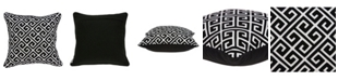 Parkland Collection Cameo Transitional Black and White Pillow Cover