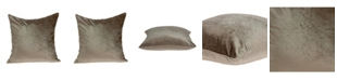Parkland Collection Druzy Transitional Taupe Solid Pillow Cover With Down Insert