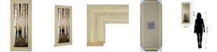 "Classy Art Birch Landing III by St Germain Framed Print Wall Art - 18"" x 42"""