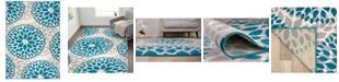 "Main Street Rugs Home Haven Hav9099 Blue 6'6"" x 9' Area Rug"