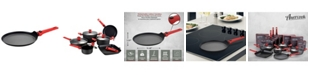"""Amercook Scratch Resistant Aluminum Round Crepe Pan with Detachable Handle 9.5"""""""
