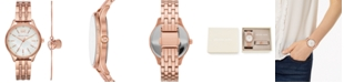 Michael Kors Women's Lexington Rose Gold-Tone Stainless Steel Bracelet Watch 36mm Gift Set